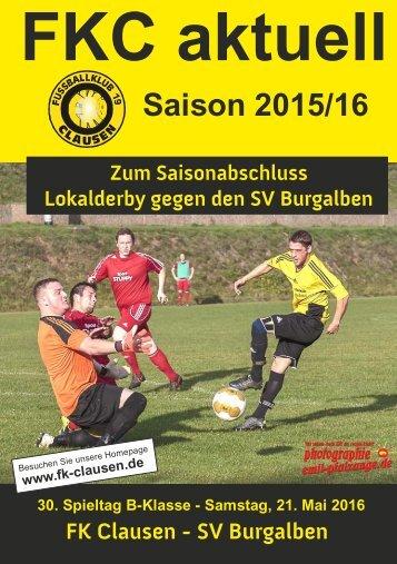 FKC Aktuell - 30. Spieltag - Saison 2015/2016