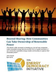 Beyond Sharing How Communities Can Take Ownership of Renewable Power