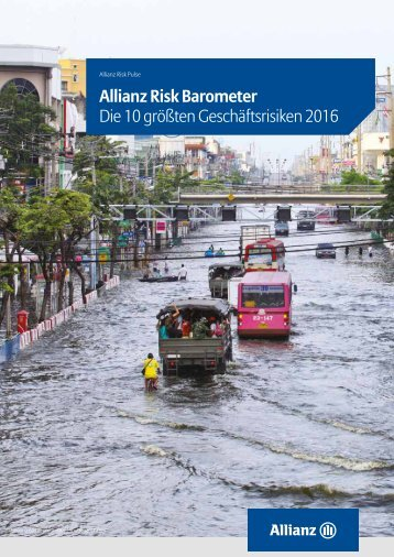 Allianz Risk Barometer Die 10 größten Geschäftsrisiken 2016