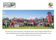 Sport spricht alle Sprachen - Casinos Austria Integrationsfußball WM
