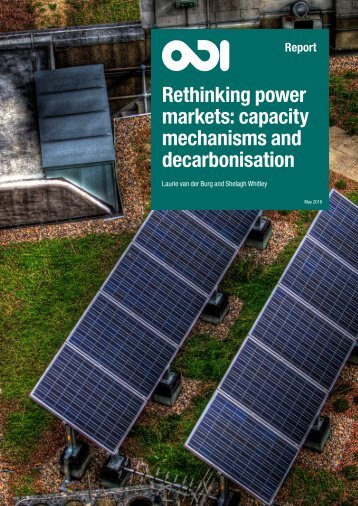 Rethinking power markets capacity mechanisms and decarbonisation