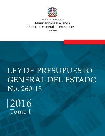ley aprobada  2016 Tomo I