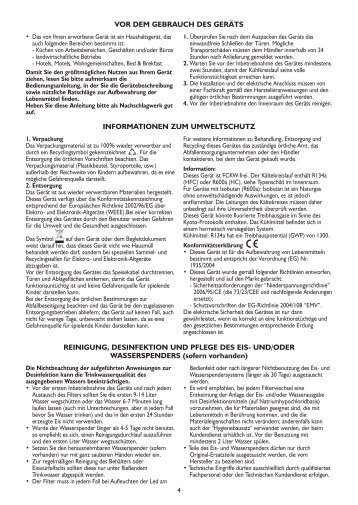 KitchenAid 20RB-D1L - Side-by-Side - 20RB-D1L - Side-by-Side DE (858644415020) Istruzioni per l'Uso