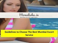 Guidelines to Choose The Best Mumbai Escort Service