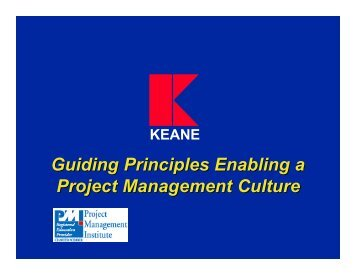 Guiding Principles Enabling a Project Management Culture - pmipr