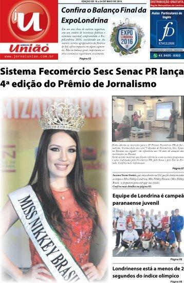 Jornal União - Edição de 18/05 a 24/Maio de 2016