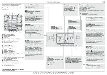 KitchenAid MAL2028GBS - Side-by-Side - MAL2028GBS - Side-by-Side ES (859511315000) Scheda programmi