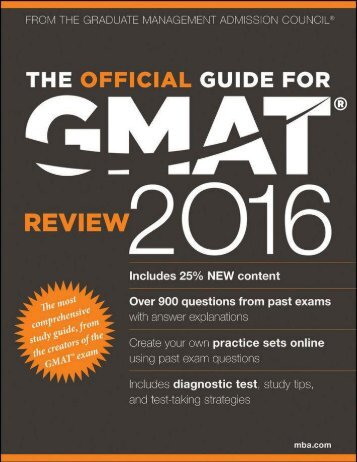 The Official Guide for GMAT Review 2016-open