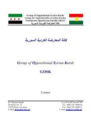 What is the GOSK Group of Oppositional Syrian Kurds
