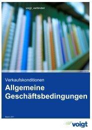 Allgemeine Geschäftsbedingungen - Voigt AG