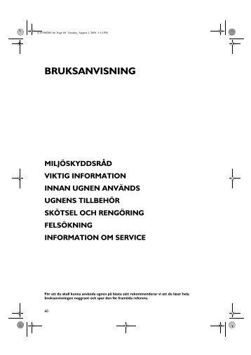 KitchenAid 700 947 31 - Oven - 700 947 31 - Oven SV (857917301010) Istruzioni per l'Uso
