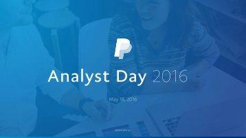 Analyst Day 2016