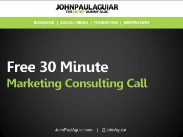 Free 30 Minute Marketing Consulting Call