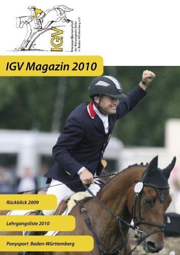 IGV Magazin 2010 - IGV Baden-Württemberg