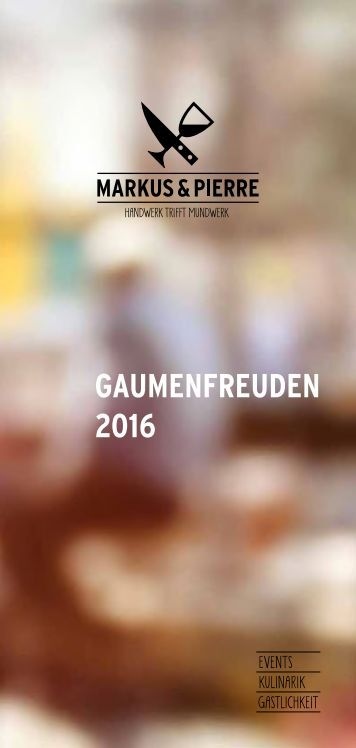 Gaumenfreuden 2016