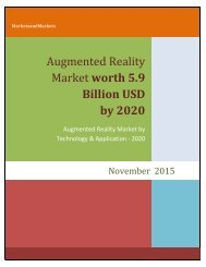 Augmented Reality Market worth 56.8 Billion USD by 2020