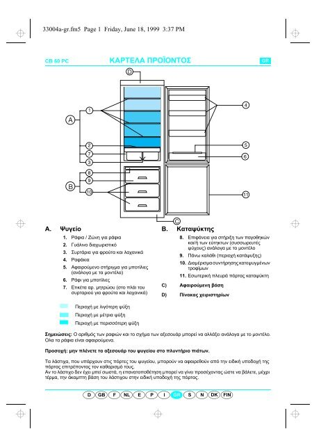 KitchenAid 345 431 10 - Fridge freezer combination - 345 431 10 -  Fridge freezer combination EL (853942501030) Scheda programmi 692f12490fe5
