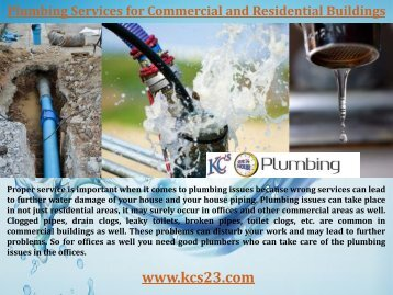 24 Hours Emergency Plumbing Services
