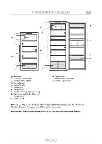 KitchenAid 5100800015 - Refrigerator - 5100800015 - Refrigerator DE (855164816020) Scheda programmi