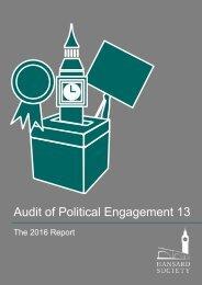Audit of Political Engagement 13