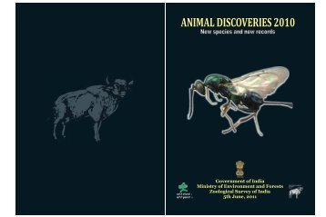 ANIMAL DISCOVERIES 2010 - Zoological Survey of India