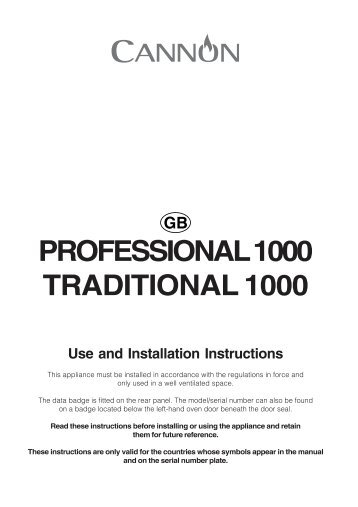KitchenAid 10450GF - Cooker - 10450GF - Cooker EN (F064457) Istruzioni per l'Uso
