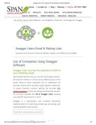 Purchase Tele Verified Swagger using Companies from Span Global Services