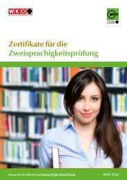 Zertifikate für die Zweisprachigkeitsprüfung