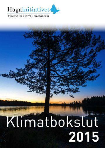 HAGAINITIATIVET / KLIMATBOKSLUT 2015