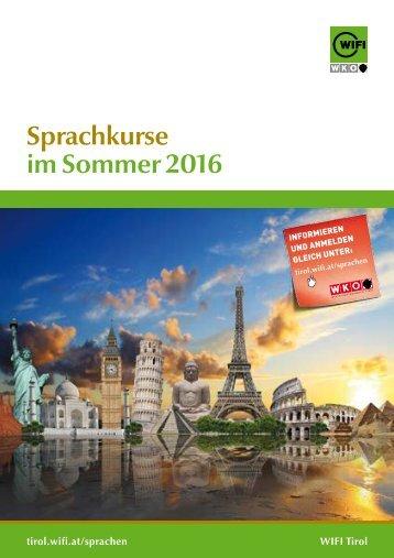 Sprachkurse im Sommer 2016