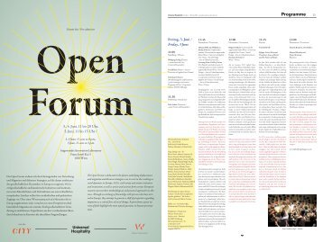 Universal Hospitality_Open Forum