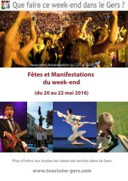Fêtes et Manifestations du week-end