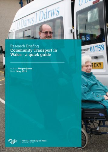 Community Transport in Wales - a quick guide
