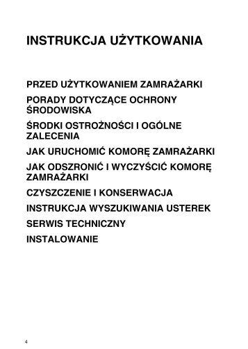KitchenAid ZS 102 - Freezer - ZS 102 - Freezer PL (850767010100) Istruzioni per l'Uso