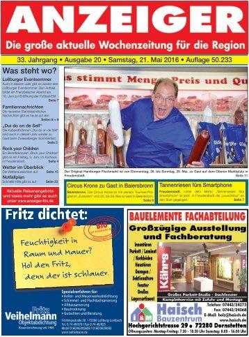 Anzeiger Ausgabe 20/16