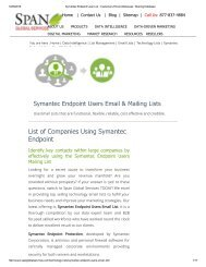 We provide our clients with the most reliable Symantec Endpoint End Users Email List