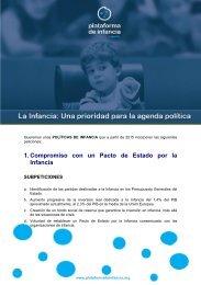 1 Compromiso con un Pacto de Estado por la Infancia