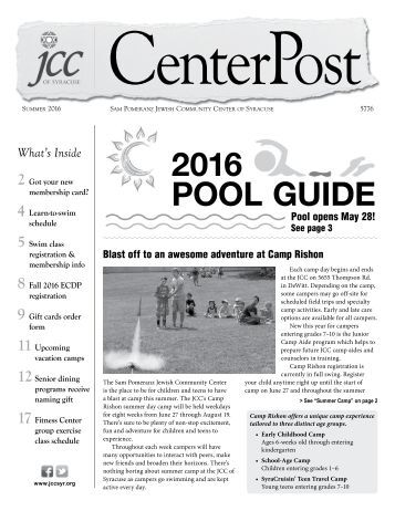 2016 Pool Guide and Summer CenterPost