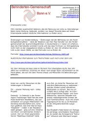 Interessante Links: - Behinderten-Gemeinschaft Bonn eV
