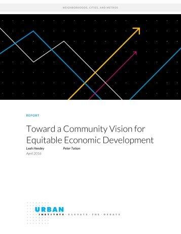 Toward a Community Vision for Equitable Economic Development