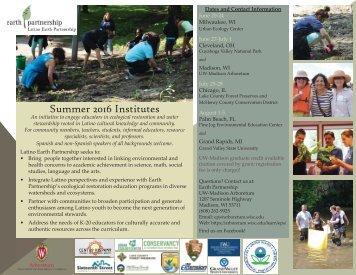 Summer 2016 Institutes