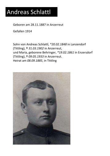 Gefallene und Vermisste 1.Weltkrieg