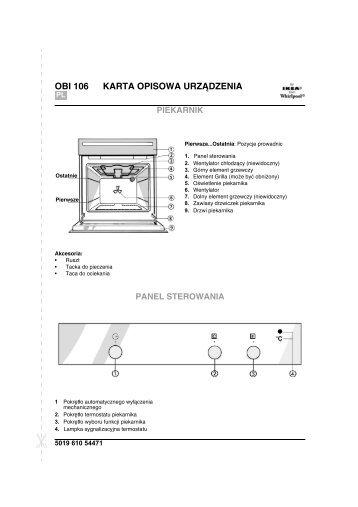 KitchenAid OBI 106 B - Oven - OBI 106 B - Oven PL (854147601010) Scheda programmi