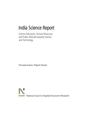 India Science Report - Indian National Science Academy
