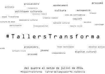 #TallersTransforma