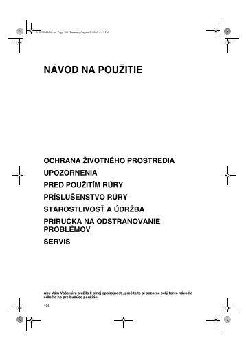 KitchenAid 501 230 13 - Oven - 501 230 13 - Oven SK (857921501010) Istruzioni per l'Uso