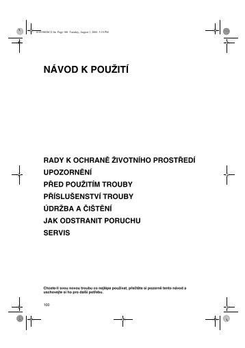 KitchenAid 501 230 13 - Oven - 501 230 13 - Oven CS (857921501010) Istruzioni per l'Uso