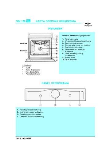 KitchenAid OBI 108 S - Oven - OBI 108 S - Oven PL (854180801000) Scheda programmi
