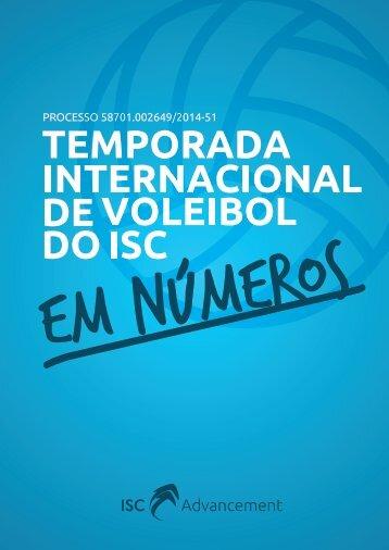 Temporada Internacional de Voleibol do ISC - Infográfico