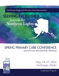 2016 Spring Primary Care Conference Program